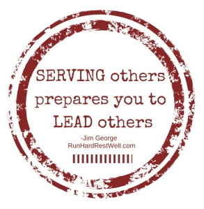 Serving others prepares you to lead others