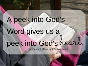 A peek into God's Word gives us a peek